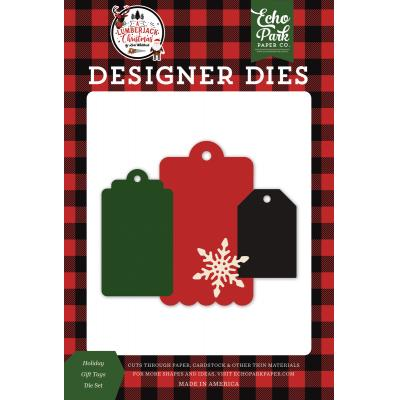 Echo Park A Lumberjack Christmas Die Set - Holiday Gift Tags