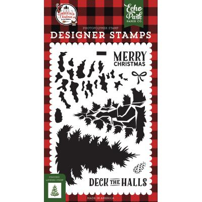 Echo Park A Lumberjack Christmas Clear Stamps - Layered Pine Tree