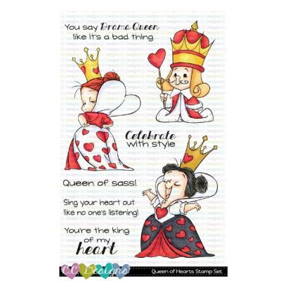 C.C. Designs Clear Stamps - Queen of Hearts