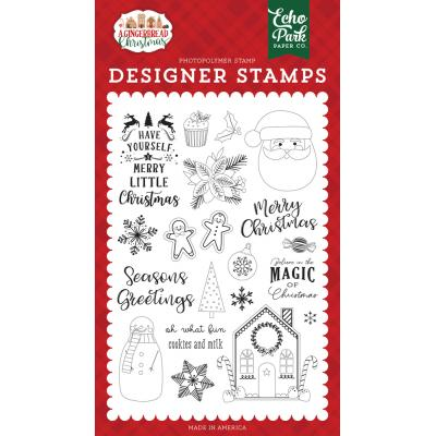 Echo Park A Gingerbread Christmas Clear Stamps - Cookie and Milk