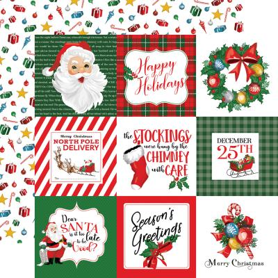Carta Bella Dear Santa Designpapier - 4 x 4 Journaling Cards