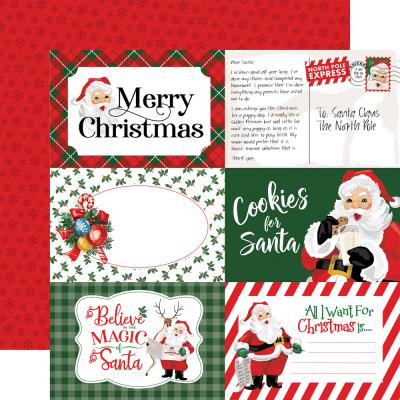 Carta Bella Dear Santa Designpapier - 4 x 6 Journaling Cards