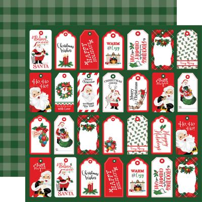 Carta Bella Dear Santa Designpapier - Tags
