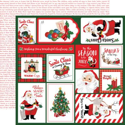 Carta Bella Dear Santa Designpapier - Multi Journaling Cards