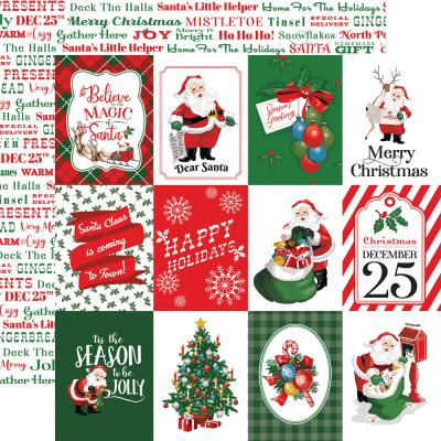 Carta Bella Dear Santa Designpapier - 3 x 4 Journaling Cards