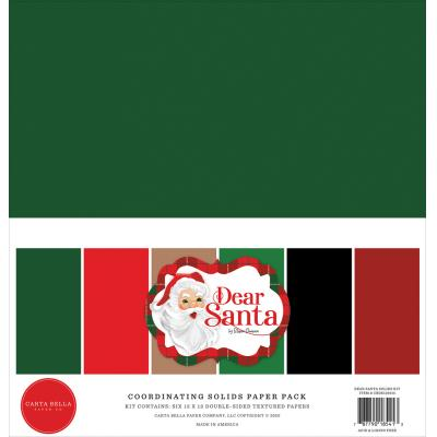 Carta Bella Dear Santa Cardstock - Solids Kit