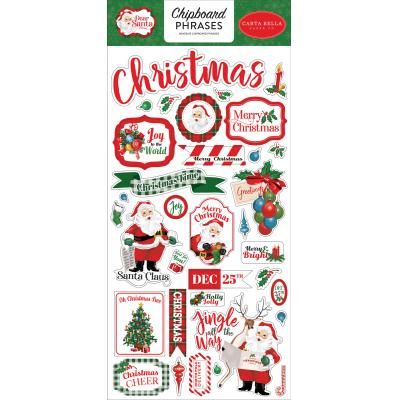 Carta Bella Dear Santa Sticker - Chipboard Phrases
