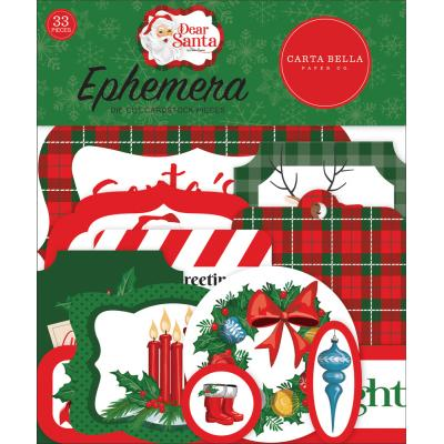 Carta Bella Dear Santa Die Cuts - Ephemera