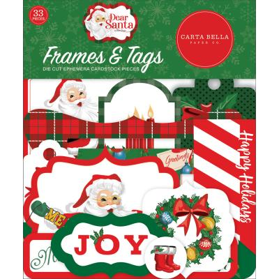 Carta Bella Dear Santa Die Cuts - Frames & Tags