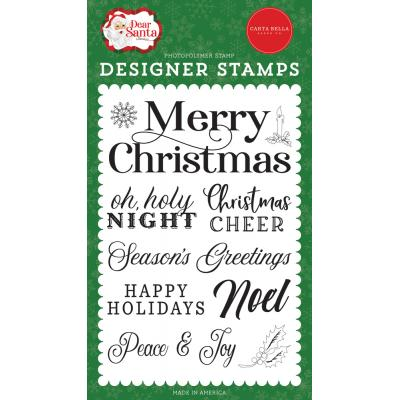Carta Bella Dear Santa Clear Stamps - Merry Christmas Sentiment