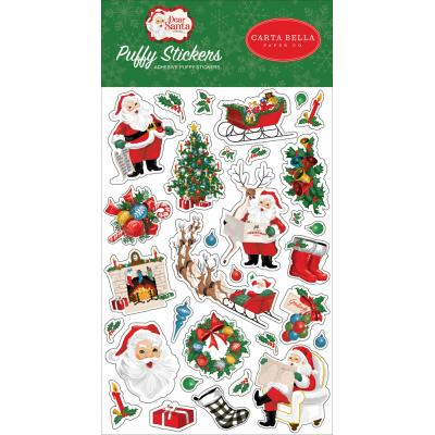 Carta Bella Dear Santa - Puffy Stickers