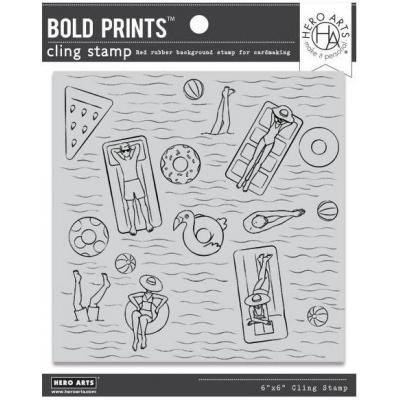 Hero Arts Cling Stamps - Pool Party Bold Prints