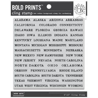 Hero Arts Cling Stamp - State-Cation Bold Prints