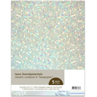 Lawn Fawn Metallic Cardstock - Holographic