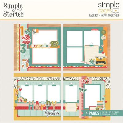 Simple Stories Hello Today Page Kit - Happy Together