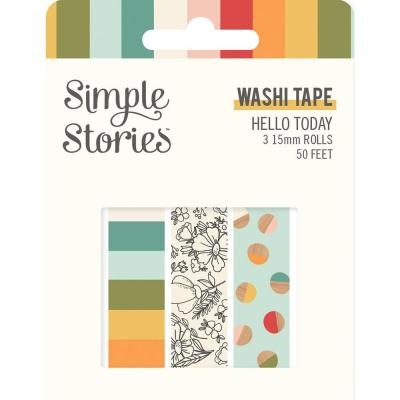 Simple Stories Hello Today Klebebänder - Washi Tape