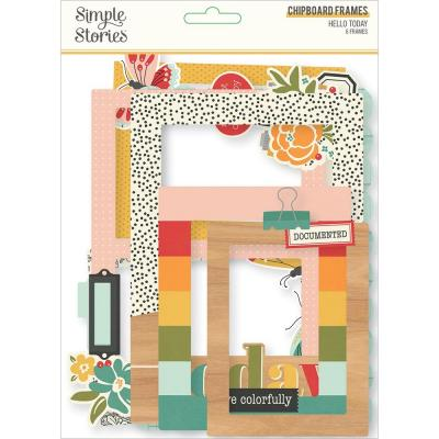 Simple Stories Hello Today - Chipboard Frames