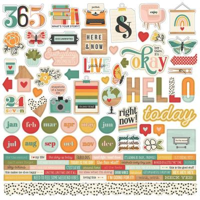 Simple Stories Hello Today - Cardstock Stickers