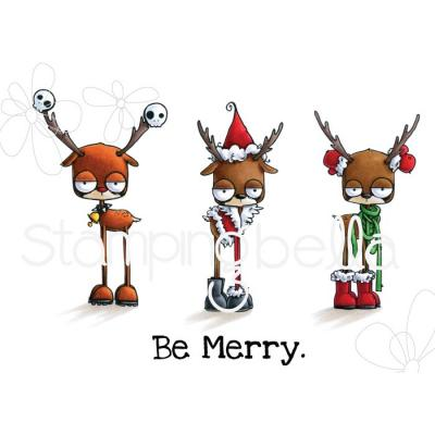 Stamping Bella Cling Stamps - Oddball Reindeer