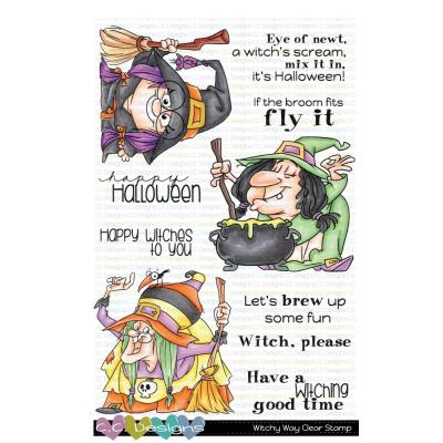 C.C. Designs Clear Stamps - Witchy Way