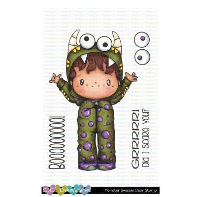 C.C. Designs Clear Stamps - Monster Swissie