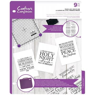 Crafter's Companion Clear Stamps - Peace & Joy