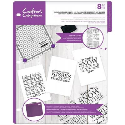 Crafter's Companion Clear Stamps - Snowflakes are Kisses
