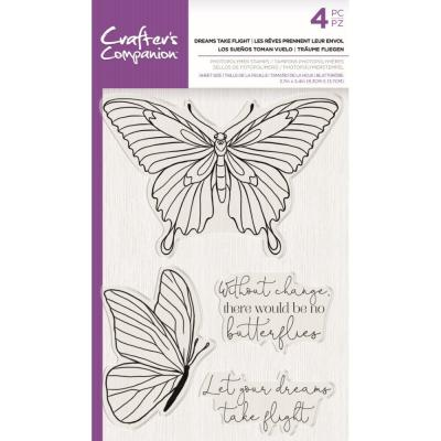 Crafter's Companion Clear Stamps - Dreams Take Flight