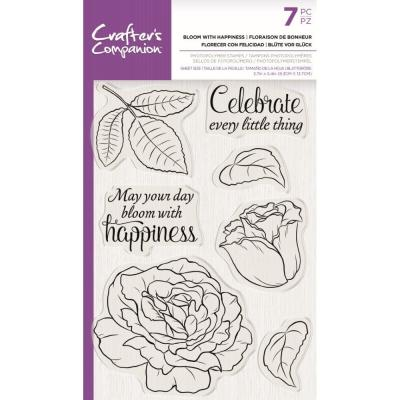Crafter's Companion Clear Stamps - Bloom With Happiness