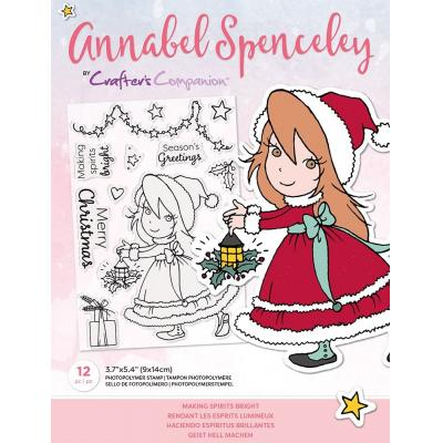 Crafter's Companion Annabel Spenceley Clear Stamps -  Making Spirits Bright