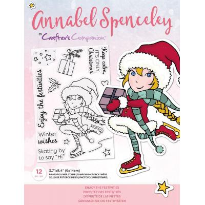 Crafter's Companion Annabel Spenceley Clear Stamps - Enjoy The Festivities