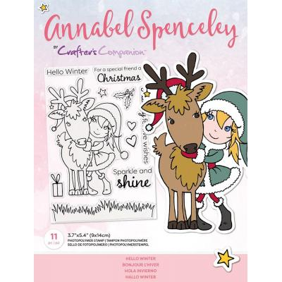 Crafter's Companion Annabel Spenceley Clear Stamps - Hello Winter