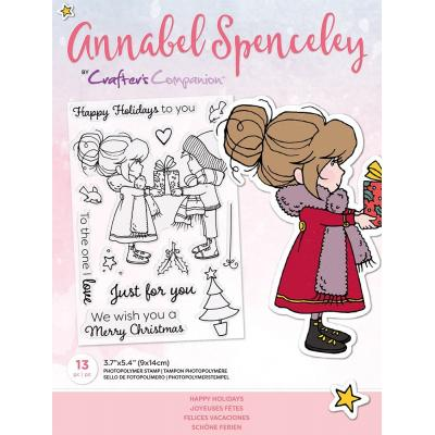 Crafter's Companion Annabel Spenceley Clear Stamps - Happy Holidays