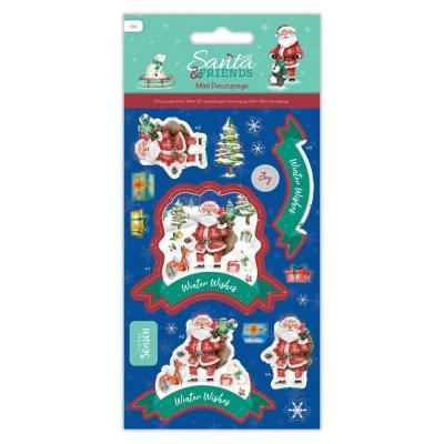Papermania Santa and Friends Mini - Decoupage Wishes