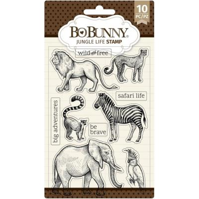BoBunny Clear Stamps - Jungle Life