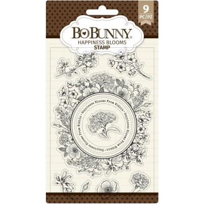 BoBunny Clear Stamps - Happiness Blooms