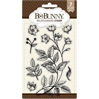 BoBunny Clear Stamps -  Wildflowers