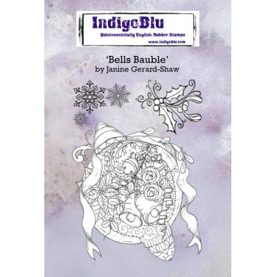 IndigoBlu Rubber Stamps - Bells Bauble