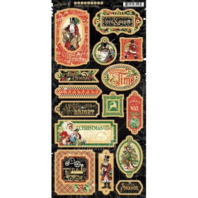 Graphic 45 Christmas Time Sticker - Chipboard