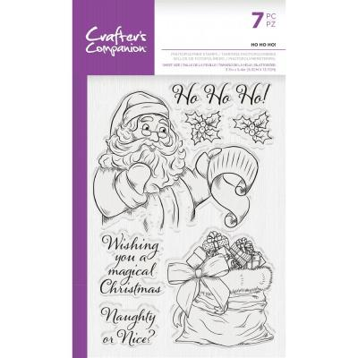 Crafter's Companion Clear Stamps -  Ho Ho Ho!