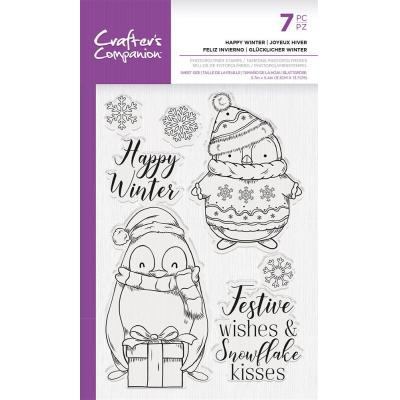 Crafter's Companion Clear Stamps - Happy Winter