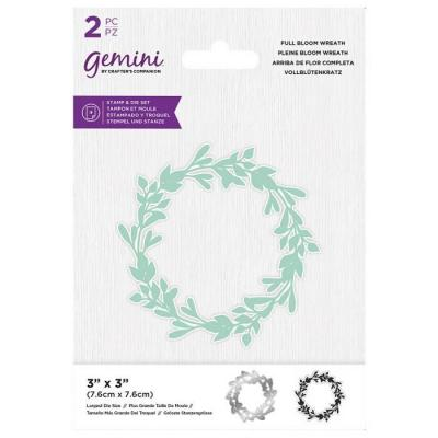 Crafter's Companion Clear Stamp & Die - In Full Bloom Wreath