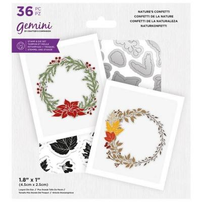 Crafter's Companion Clear Stamps & Dies - Natures Confetti