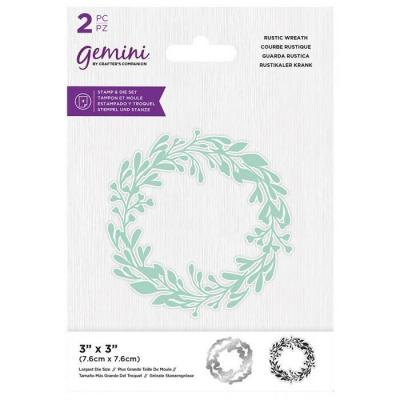 Crafter's Companion Clear Stamp & Die - Rustic Wreath