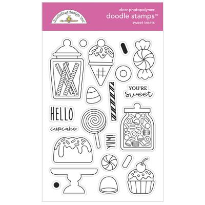 Doodlebug Ghost Town Clear Stamps - Sweet Treats