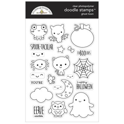 Doodlebug Ghost Town Clear Stamps - Ghost Town