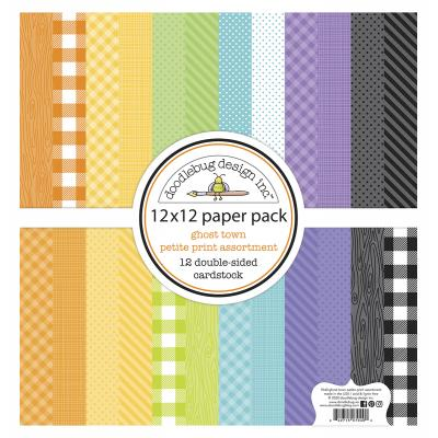 Doodlebug Ghost Town Designpapier - Petite Print Assortment Pack