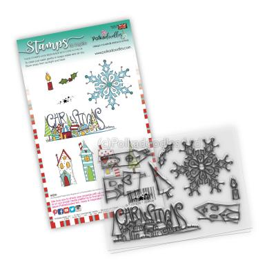 Polkadoodles Clear Stamps - Christmas Scenes
