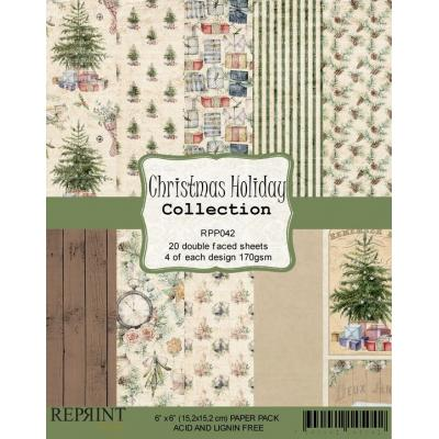 Reprint Christmas Holiday Designpapier - Paper Pack