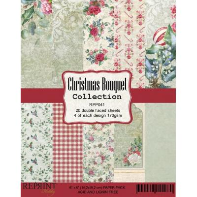 Reprint Christmas Bouquet Designpapier - Paper Pack